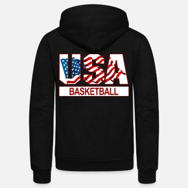 Usa USA Basketball - Unisex Fleece Zip Hoodie