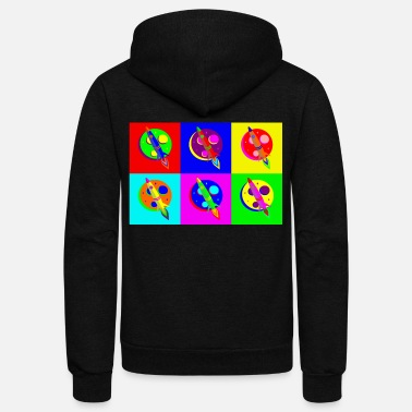 Popartcontest Rocket Moon Pop Art - Unisex Fleece Zip Hoodie