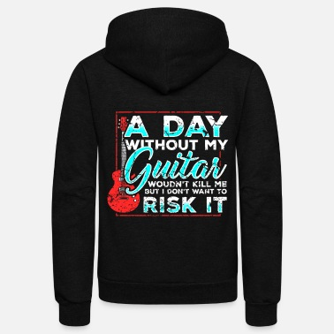 Guitar Bassist Musical Instrument Band - Unisex Fleece Zip Hoodie