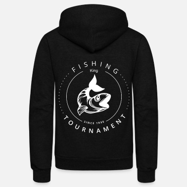 Fishing, Fishing, Petri Heil, Hobby, Fish, Fishing - Unisex Fleece Zip Hoodie