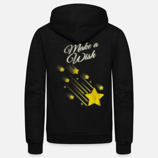 Gift Idea Hoodies & Sweatshirts - Shooting Stars Wish - Unisex Fleece Zip Hoodie black