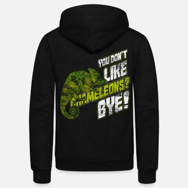 Threatend Species Chameleon - Unisex Fleece Zip Hoodie