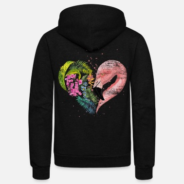 Threatend Species Flamingo - Unisex Fleece Zip Hoodie