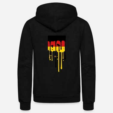 Gold drop blob graffiti germany nation black red gold f - Unisex Fleece Zip Hoodie
