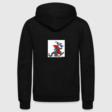 Dragon red - Unisex Fleece Zip Hoodie