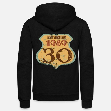 Established ESTABLISH 1989 30 YEARS - Unisex Fleece Zip Hoodie