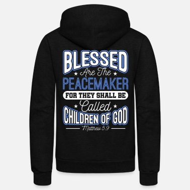 Sheriff Blessed Are The Peacemakers Police Officer Cop - Unisex Fleece Zip Hoodie