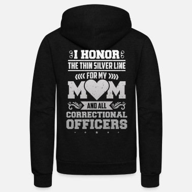Police Honor Corrections Officer Thin Silver Line Police - Unisex Fleece Zip Hoodie