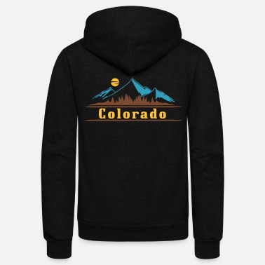 Colorado Native Colorado Gifts CO State Flag Colorado - Unisex Fleece Zip Hoodie