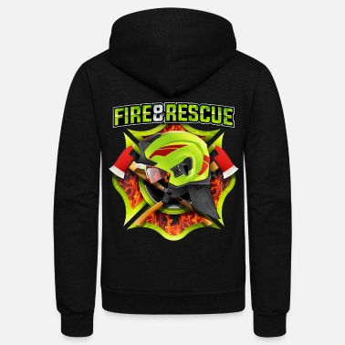 Rescue Fire and Rescue - Unisex Fleece Zip Hoodie