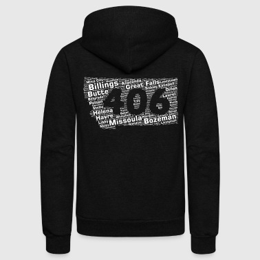 Area Code Montana Cities 406 Area Code - Unisex Fleece Zip Hoodie