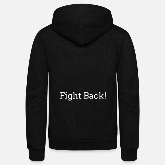 Usa Hoodies & Sweatshirts - Fight Back! President Government Quotatio - Unisex Fleece Zip Hoodie black