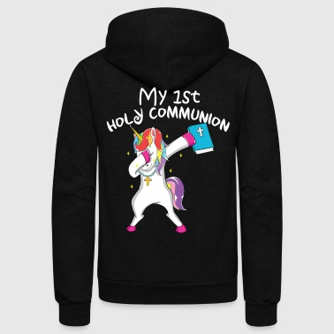 st Holy Communion Catholic Shirt First Son Daughter Gift - Unisex Fleece Zip Hoodie