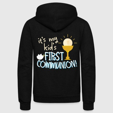 My Kids First Holy Communion Son Daughter Gift - Unisex Fleece Zip Hoodie
