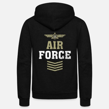 Airforce Airforce Soldier Profession Occupation job - Unisex Fleece Zip Hoodie
