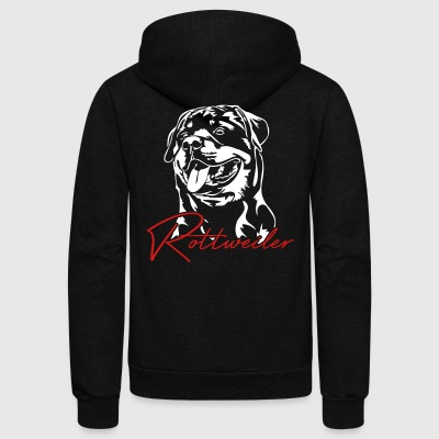 Rottweiler Dog - Unisex Fleece Zip Hoodie by American Apparel