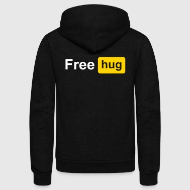 Free HUG - Unisex Fleece Zip Hoodie by American Apparel