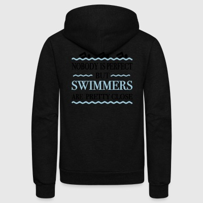 swimmers - Unisex Fleece Zip Hoodie by American Apparel