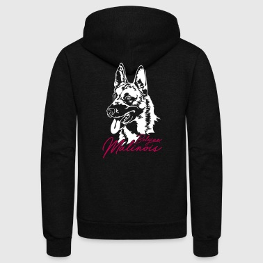 Belgian Malinois - Unisex Fleece Zip Hoodie by American Apparel