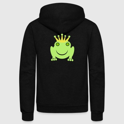 frog - Unisex Fleece Zip Hoodie by American Apparel