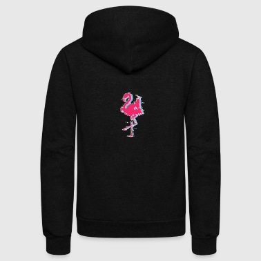 Flamingo - Unisex Fleece Zip Hoodie by American Apparel