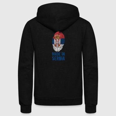 Made in Serbia / Србија Srbija - Unisex Fleece Zip Hoodie by American Apparel