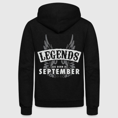 Legends are born in September - Unisex Fleece Zip Hoodie