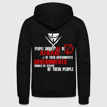 GUY FAWKES V FOR VENDETTA QUOTE - Unisex Fleece Zip Hoodie