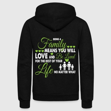 Being A Family T Shirt - Unisex Fleece Zip Hoodie