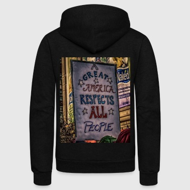 A Great America - Unisex Fleece Zip Hoodie