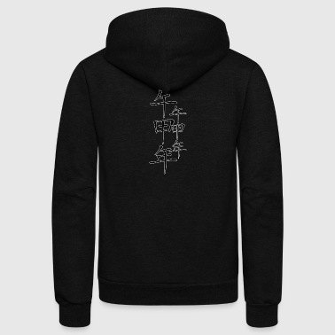 chinese_new_year_with_ornament_black - Unisex Fleece Zip Hoodie by American Apparel