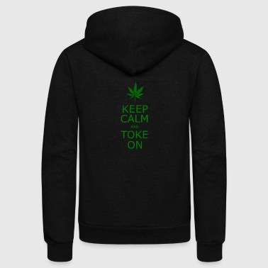 KEEP CALM TOKE ON - Unisex Fleece Zip Hoodie