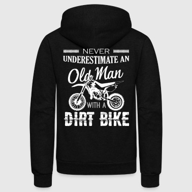 Old Man With Dirt Bike Shirt - Unisex Fleece Zip Hoodie by American Apparel