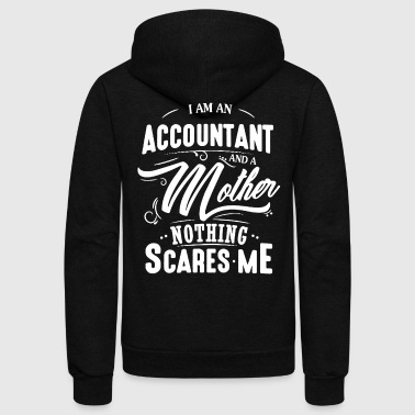 Accountant And Mother Shirt - Unisex Fleece Zip Hoodie by American Apparel