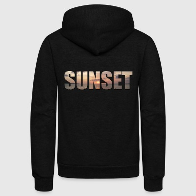Sunset - Unisex Fleece Zip Hoodie by American Apparel