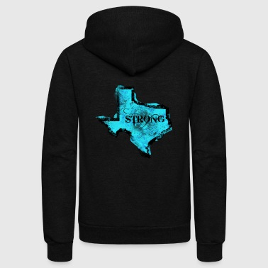 texas strong - Unisex Fleece Zip Hoodie by American Apparel