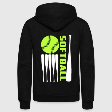 Softball T Shirt - Unisex Fleece Zip Hoodie