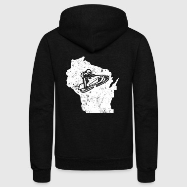 Wisconsin Snowmobile Outfit Snowmachine Shirt - Unisex Fleece Zip Hoodie