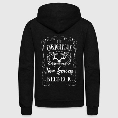 Antler New Jersey Redneck Trailer Park - Unisex Fleece Zip Hoodie by American Apparel