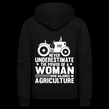 A Woman Who Majored In Agriculture T Shirt - Unisex Fleece Zip Hoodie