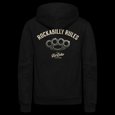 Rockabilly Rules - Unisex Fleece Zip Hoodie