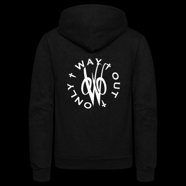 Lunar Nation's - White OWO logo - Unisex Fleece Zip Hoodie