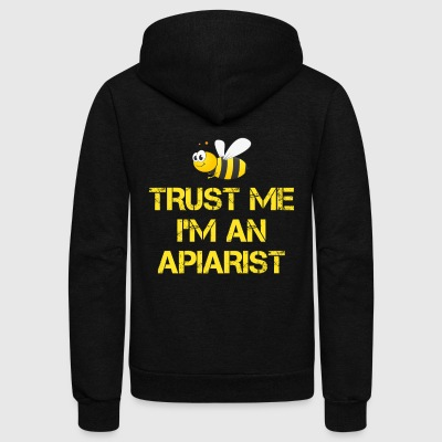 Funny Apiary Gift Trust Me I'm An Apiarist - Unisex Fleece Zip Hoodie by American Apparel