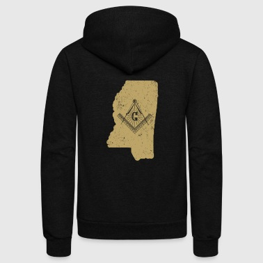 Mississippi Freemason Clothing Masonic Clothing - Unisex Fleece Zip Hoodie