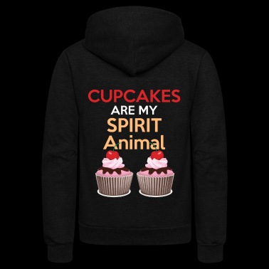 Funny Baking Gift Cupcakes Are My Spirit Animal Shirt Great Bakers Gift - Unisex Fleece Zip Hoodie