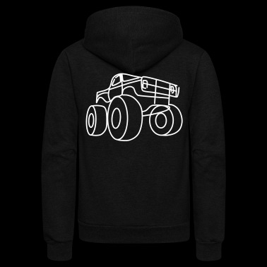 Monster truck - Unisex Fleece Zip Hoodie