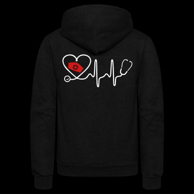 Heart Beat Nurse - Unisex Fleece Zip Hoodie