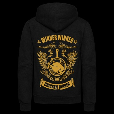 chicken dinner - Unisex Fleece Zip Hoodie