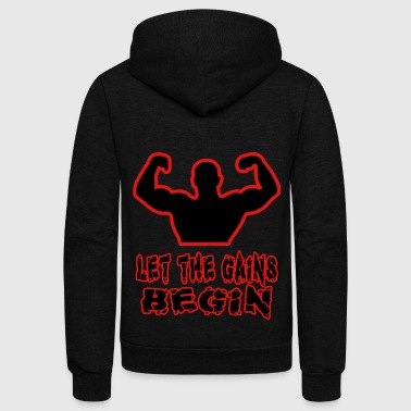 Gains - Unisex Fleece Zip Hoodie