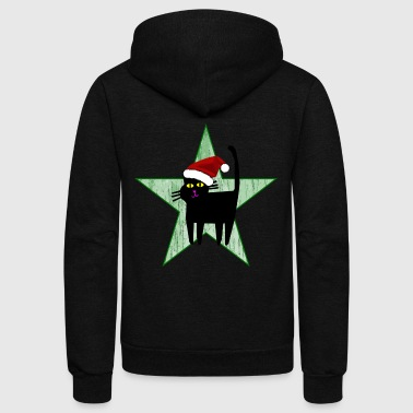 Christmas Star - Unisex Fleece Zip Hoodie by American Apparel
